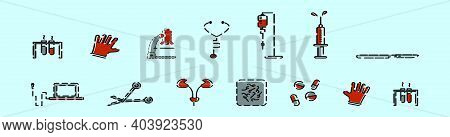 Set Of Urology Cartoon Icon Design Template With Various Models. Modern Vector Illustration Isolated