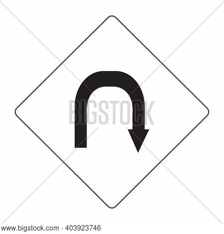 U Turn Icon Isolated On White Background From Arrow Collection. U Turn Icon Trendy And Modern U Turn
