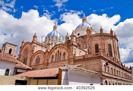 New cathedral in Cuenca with blue sky