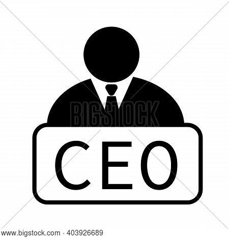 Chief Executive Officer Icon On White Background. Chief Executive Officer Sign. Ceo Symbol. Flat Sty