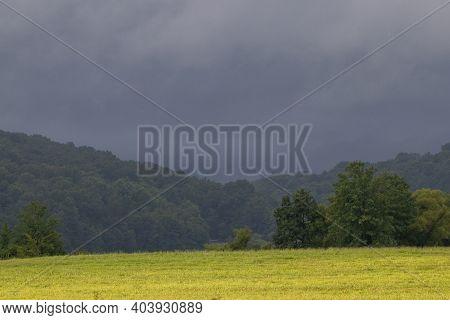 Black Ominous Storm Clouds