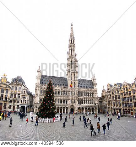 Brussels, Belgium, 29 december, 2020, Grand-place of Brussels