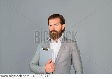 Bearded Businessman. Ceo. Office Worker. Portrait Of Bearded Businessman. Businessman In Office. Bus