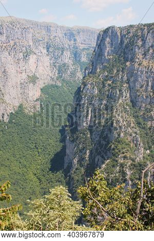 Vikos Gorge View From Oxia Epirus Greece