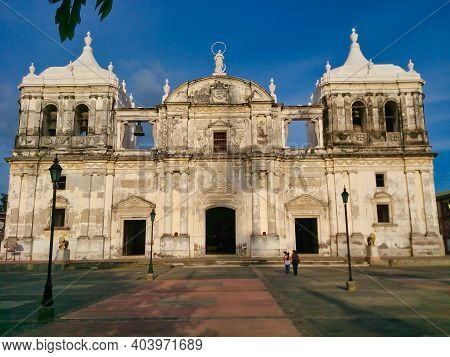 View On The Cathedral Of The Assumption Of Mary Of Leon In Nicaragua