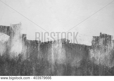 Abstract Art White Grunge Cement Or Concrete Wall Texture Background. White Cement Wall Texture For
