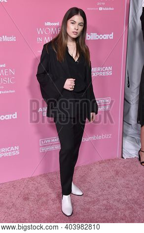 LOS ANGELES - DEC 12:  Destiny Rogers arrives for the Billboard's 2019 Women in Music on December 12, 2019 in Hollywood, CA