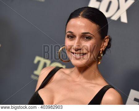 LOS ANGELES - FEB 06:  Actress Emmanuelle Chriqui arrives for FOX Winter TCA 2019 on February 06, 2019 in Los Angeles, CA