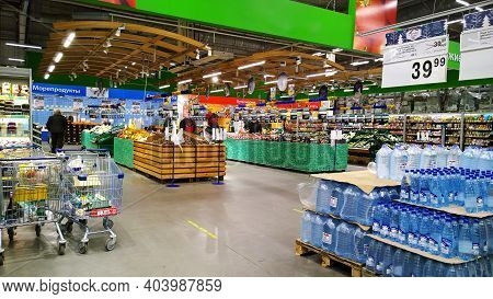 St. Petersburg, Russia - January 1, 2021: Top Russian Supermarket Is One Of Largest Players Of Retai