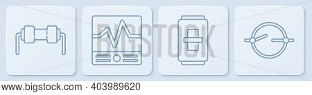 Set Line Resistor Electricity, Electric Light Switch, Electrical Measuring Instruments And Electric
