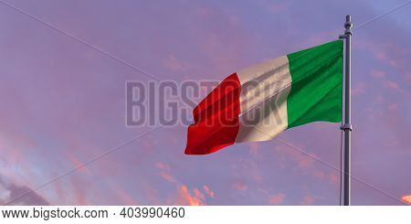 3d Rendering Of The National Flag Of The Italy