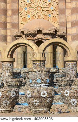 Sharm El Sheikh, Egypt - November 22, 2019: Al Mustafa Mosque, A Large Islamic Temple In The City Ce