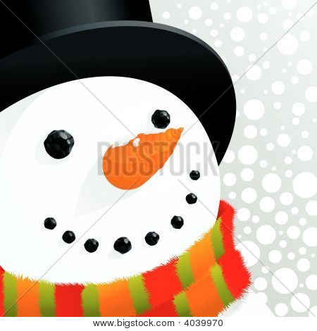 Snowman And Snow