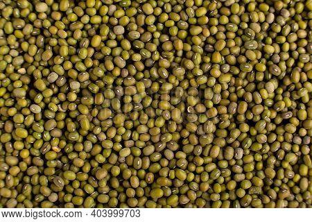 Mung Beans Background Texture, Background Pattern, Green Bean, Top View