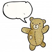 cartoon talking teddy bear poster
