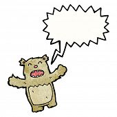 shouting little cartoon bear poster