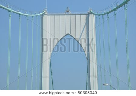 The Newport Bridge in Rhode Island