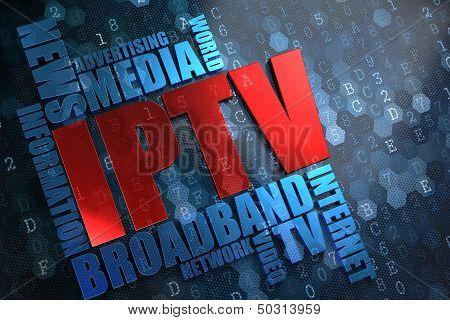 IPTV. Wordcloud Concept.
