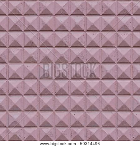Seamless Texture of Decorative Concrete Slab Painted In Purple. poster
