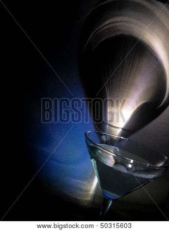 Martini glass with abstract background