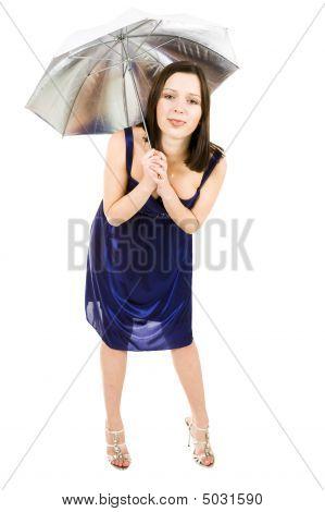 Woman With Umbrella Make Fool