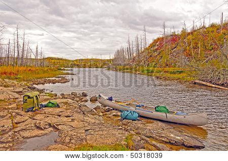 Autumn Portage On a Remote Lake