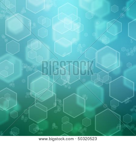 the abstract background with the hexagon texture poster