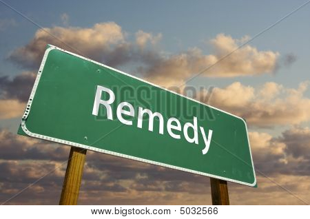 Remedy Green Road Sign