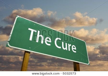 The Cure Green Road Sign