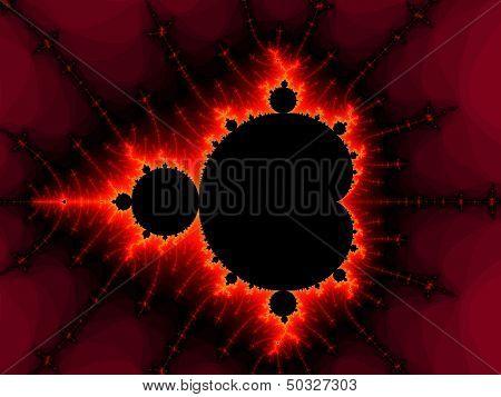 Red fractal pattern