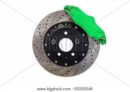 Brake disc isolated under the white background