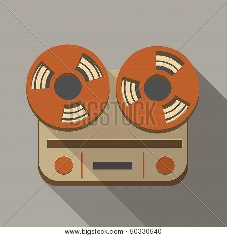 Flat long shadow tape recorder