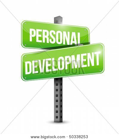 Personal Development Road Sign Illustration
