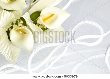 Wedding Flowers Over Veil