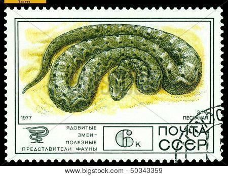 Vintage  Postage Stamp. F-hole Sand.
