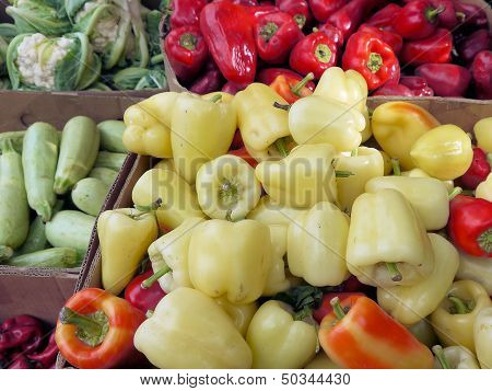 vegetables in cartons