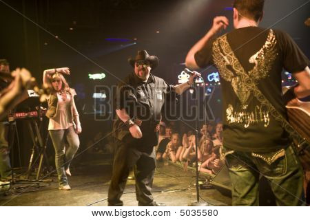 Colt Ford And His Band Members At The Texas Club In Baton Rouge Louisiana 4-17-09