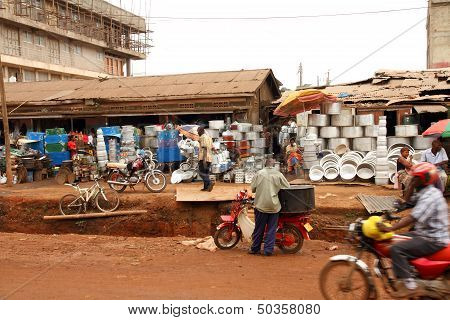Street Merchants In Kampala, Uganda