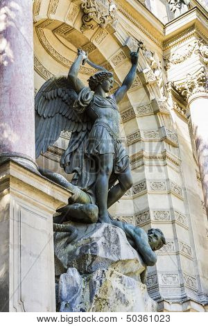 Saint Michael Fountain , Paris, France