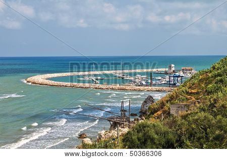 Panoramic view of Rodi Garganico. Puglia. Italy. poster