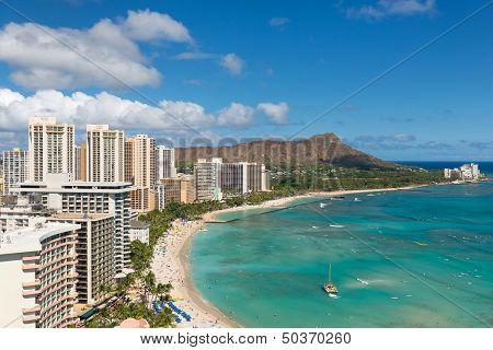 Scenic View Of Waikiki Beach