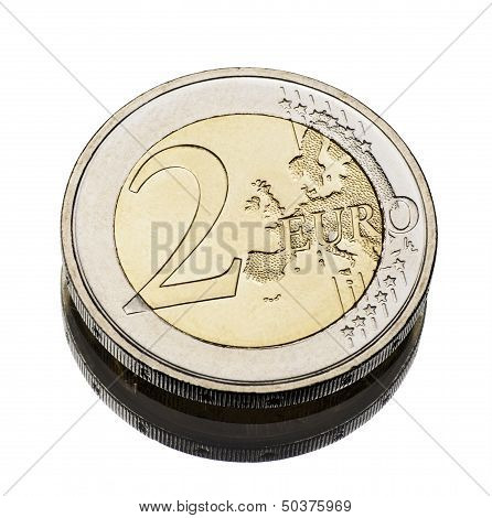 Two Euro Coin Worn