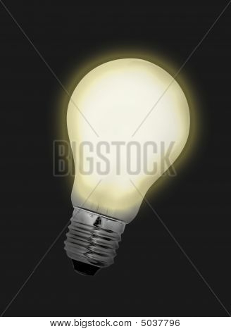 Idea Bulb Lights Up