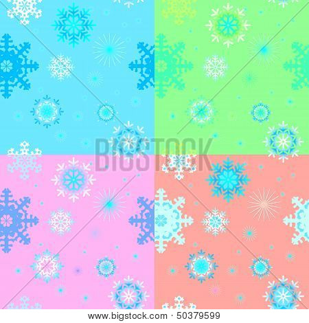 Backgrounds with snowflakes