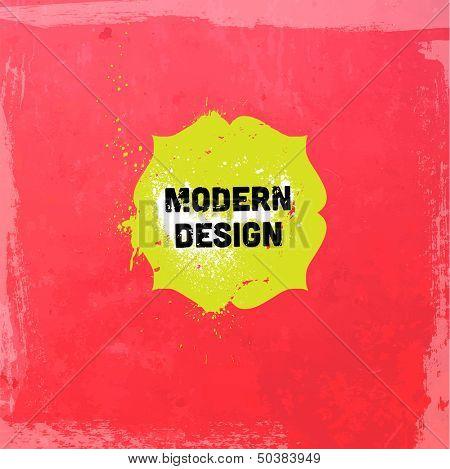 Grunge background with vintage frame. Watercolor paper texture background. Modern design.