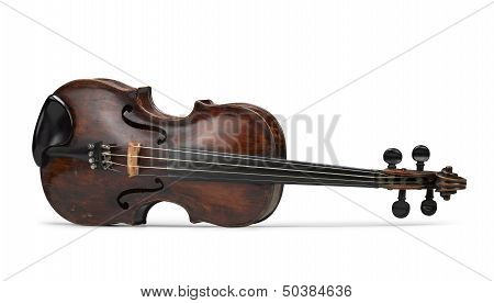 Classical Violin Instrument In Front View