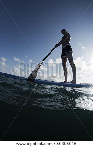 Vertical Paddleboarding