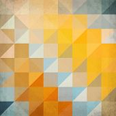 Abstract orange triangles geometry hipster vector background poster