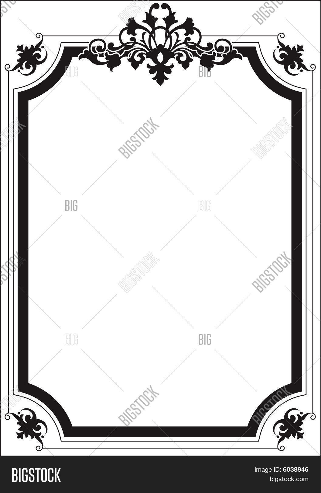 Scroll Border Frame Vector & Photo (Free Trial) | Bigstock