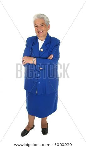 Elderly Happy Woman  Full Body Isolated